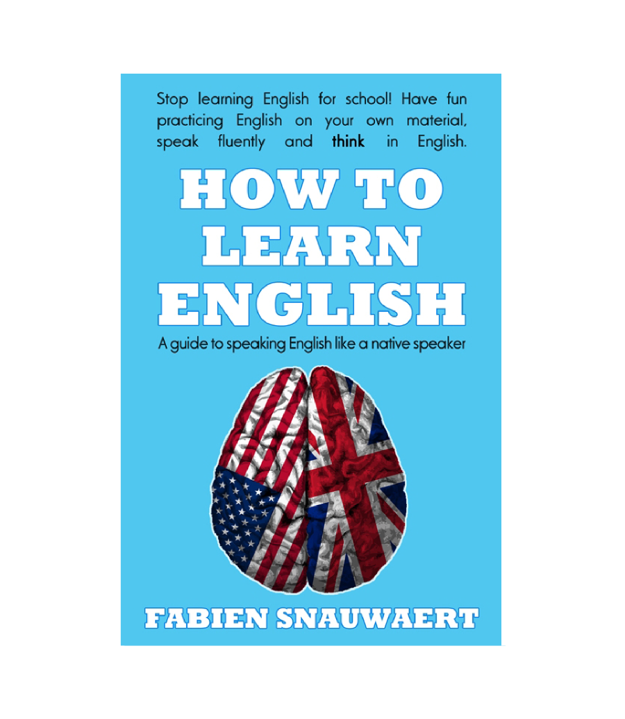 Book cover for the e-book version of How to Learn English
