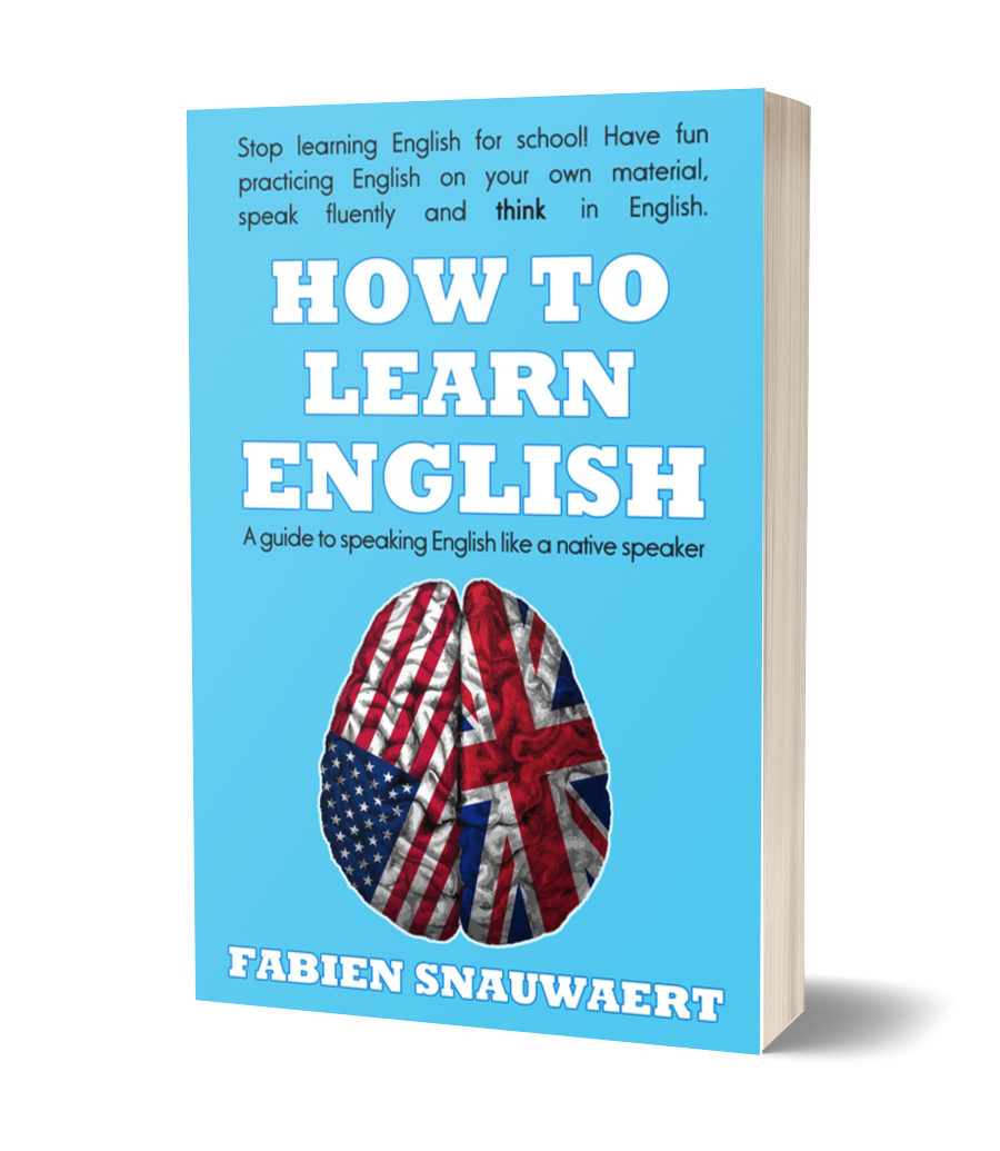Book cover for the paperback version of How to Learn English
